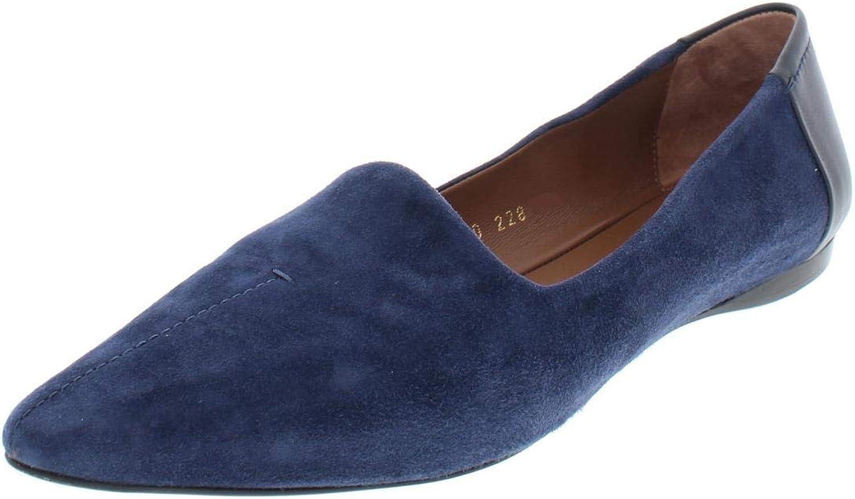 Giorgio Armani Womens Low Heel Pointy-Toe Flats