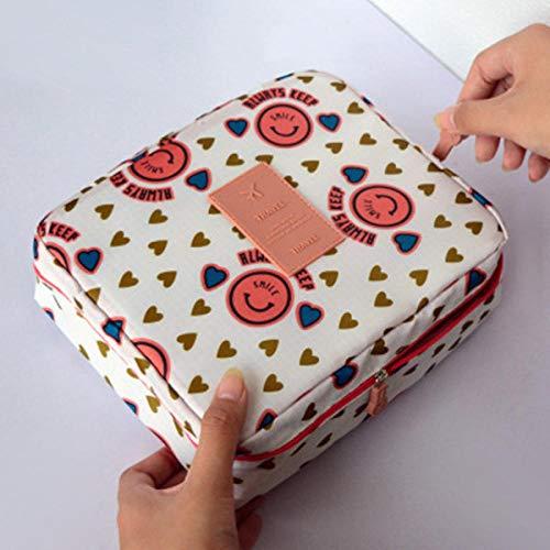 2020 CelleCOOL nouveau femmes maquillage sac Multi cosmétique sac beauté étui maquillage organisateur fermeture éclair trousse de toilette stockage voyage Kit sac-Sourire orange
