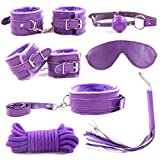 Luck7DZ 7PCS Role Play SM R'estraints Kit for S'ex Cuffs Bandage Gear and Accessories BSDM Soft Comfortable...
