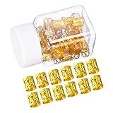 50 Piezas Dreadlocks Beads Anillos de Rastas de Aluminio Ajustables Decoración de Pelo Trenzado (Dorado)