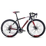 21 Velocità bici della strada, Adulto 700C ruote della bicicletta, Uomini alluminio Telaio Bicicletta da corsa, Donne Città Commuter biciclette, Ultra-Light biciclette, Un 700C * 500mm, 21 velocità Ka