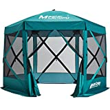 MASTERCANOPY Escape Shelter, 6-Sided Canopy Portable Pop up Canopy Durable Screen Tent Bug and Rain Protection (6-8 Person), Emerald Green