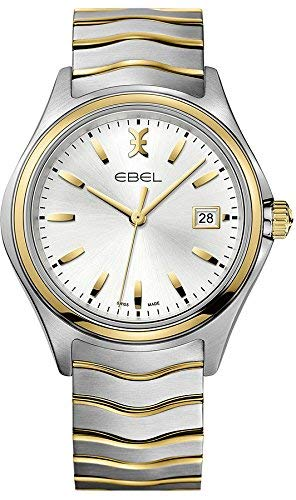 Ebel Wave quadrante argento due tono Mens Watch