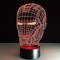 ナイトライトLED 7色アイアンピープルLedテーブルランプ3D錯覚ナイトライト透明アクリルデコファントホーム電球ナイトランプ ベッドサイドランプ