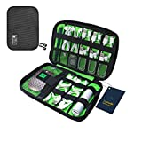 Luxtude Electronic Organizer, Compact Cable Organizer, Portable Cord Organizer, Travel Organizer Bag for Cable Storage, Cord Storage and Electronics Accessories Phone/USB/SD/Charger Organizer (Black)