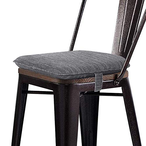 baibu Super Soft Metal Dining Chair Pads Bar Stool Cushion with Ties for Metal Chairs or Bar Stools - Cushion Only (Gray, 14x14x1.5in)