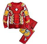 Topfly® Baby Thermo-Unterwäsche-Set Kinder 100% Baumwolle Anzug einfarbig Pyjama für Jungen Gr. 140 cm/5-6 Jahre, Iron Red