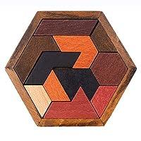ZHIZI 婴儿・智育玩具 便利なファミリーパズルおもちゃである六角形のタングラム (Color : B)