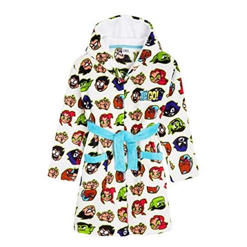 Teen Titans Go! Vestaglia Bambino, Vestaglie in Morbido Pile per Bimbo da 4 A 14 Anni, Abbigliamento Ufficiale con Personaggi Teen Titans, Idea Regalo Bimbi (4-5 Anni)
