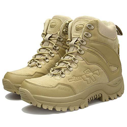 NDHSH Bota Combate Hombre Zapatos Cuero Ante Botas
