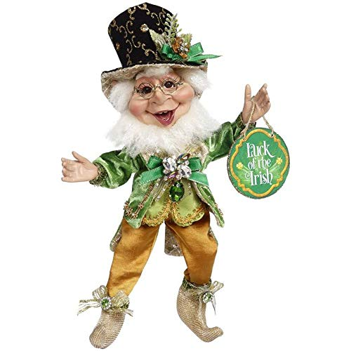 Mark Roberts Sneaky Leprechaun Elf Figurine, Small, 11.5 inches - Beautiful Spring Inspired Decoration for Your Home