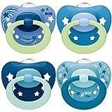 NUK chupetes para bebés noche y día | 6-18 meses | Chupetes que brillan...