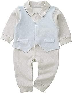 Xifamniy Infant Babies 2pcs Romper Cotton Stitching Long Sleeve Fashion Jumpsuit Gray