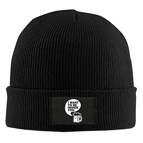 I Want to Be Inside You Theme Outdoor and Indoor Leisure Work Winter Warm Woolen Hat - Gorro de lana para hombre