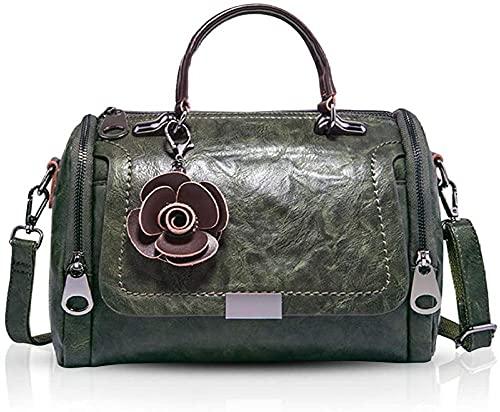 KKLLHSH Bolsos de moda para mujer, bolso con asa superior, bandolera retro, bolsos de flores para dama, bolso de mensajero, bolso de hombro elegante, 26x12x17cm-2