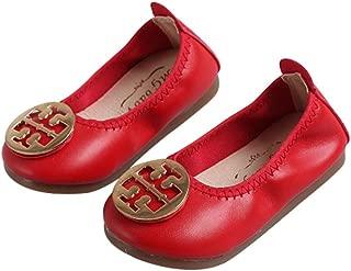 MIKA HOM Girls Casual Flats Ballet Flats Folding Shoes Dancing Egg Rolls Boat Shoes