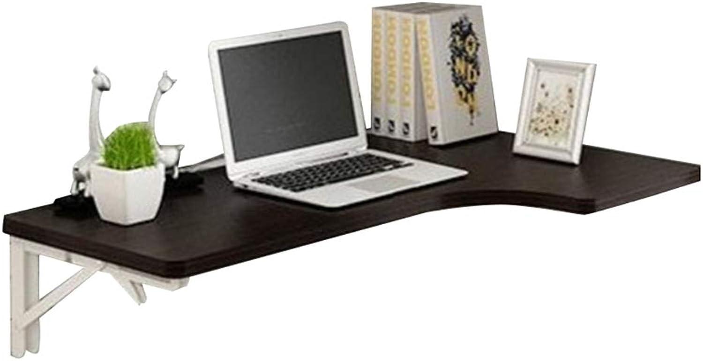 PENGFEI Wall-Mounted Corner Computer Desk Multifunction Foldable Study Desk, 4 colors, 3 Sizes (color   Black, Size   80x60x40CM)