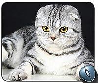 動物ペットスコティッシュフォールドパーソナライズされた長方形のマウスパッド、印刷された滑り止めゴム快適なカスタマイズされたコンピューターのマウスパッドマウスマットマウスパッド