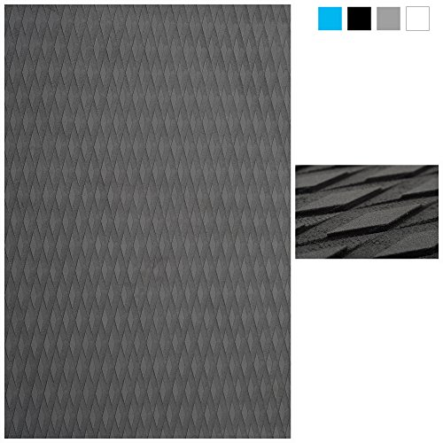 Abahub Non-Slip Traction Pad Deck Grip Mat 30in x 20in Trimmable EVA Sheet 3M Adhesive for Surfboard SUP Gray
