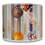 Royal Designs Modern Trendy Decorative Handmade Lamp Shade - Made in USA - Sea Shell on Colorful Wood Design -...