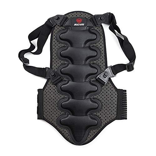 Lixada Rückenschutz Protektor, Abnehmbares Dickes Eva-Schutz-Rückenpolsterfür Motocross Motorrad Ski Skating Fahrrad Radsports