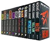 Michael Grant 12 Books Collection Set (Gone Series-Light, Gone, Hunger, Lies, Plague, Fear, Bzrk Series -Bzrk, Reloaded, Apocalypse & Monster Series-Hero, Villain, Monster)