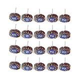 Yuhtech 20Pcs Rueda de lija 32 x 10 x 3,2 mm para herramientas rotativas Dremel, grano 80, lija
