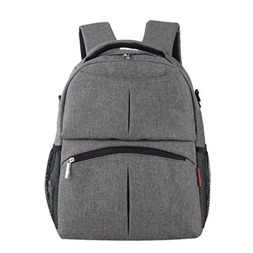 Diaper Bag Backpack Large Capacity Backpack Travel Backpack (Gray)