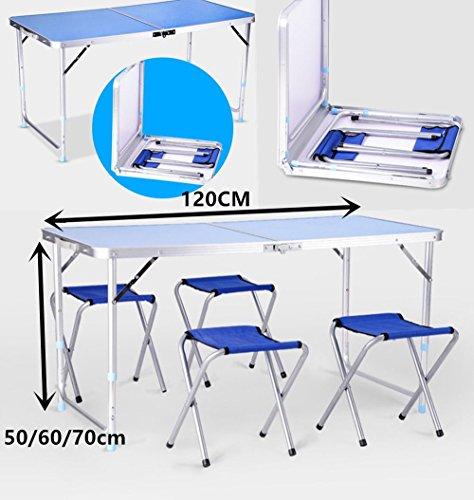 Generic able Farbe zufällig, Picknick- und Stühle, zusammenklappbar, tragbar, Camping, Picknick, Grillen, Party,...