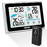 Qomolo Stazione Meteorologica con Sensore Esterno, Termometro Igrometro Digitale con Schermo LCD,...