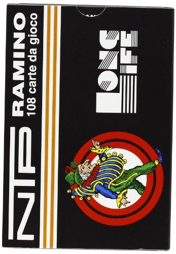 NTP 00026 - Ramino Floreale Carte da Gioco, Rosso/ Verde