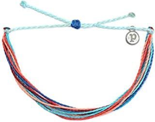 Jewelry Bracelets Bright Bracelet - 100% Waterproof and Handmade w/Coated Charm, Adjustable Band