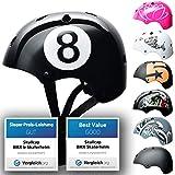 SkullCap® BMX & Casco per Skater Casco - Bicicletta & Monopattino Elettrico, Design: Blac...