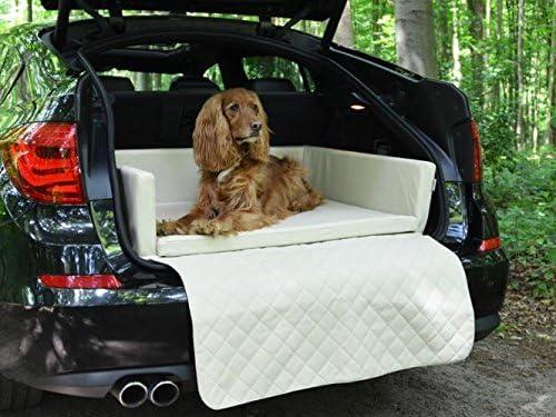 Padsforall Autoschondecke Kofferraum Schutzdecke Auto Hundebett In Beige Kunstleder Mypado Haustier
