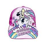 New Cappello Bambino con Visiera Minnie Mouse Unicorno Bambina 3/12 Anni Prodotto Ufficiale