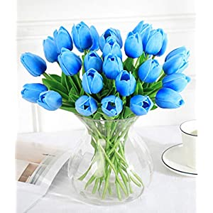 kaimimei Artificial Calla Lily Flower Fake Flower Lataex Real Touch 20 pcs for Wedding Party Home Decoration(vase not Include)
