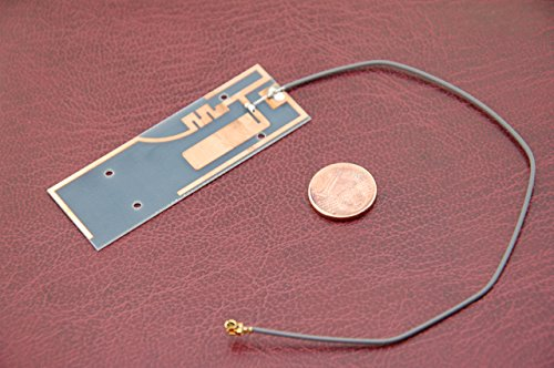 Alda PQ Antena para Uso con Tarjetas de circuitos Impresos para 2G (gsm), 3G (UMTS), WiFi/Bluetooth con U.FL Enchufe