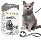 Toulifly Cat Harness, Kitten and Puppy Universal Harness with Leash Set, Escape Proof Soft Mesh Adjustable Vest Harnesses, Cat Vest Harness with Reflective Strap (S)
