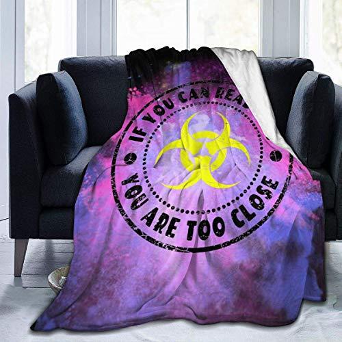LaLa.R Blanket 2020 Quarantine Si Puedes Leer Esto, estás Demasiado Cerca de Virus Franela Fleece Blanket Throw Impresión 3D 50x40 Inch
