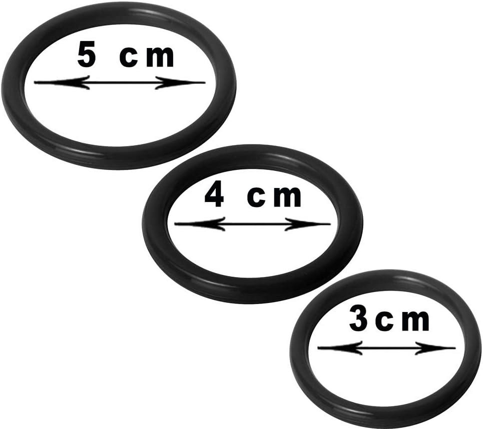Black Time Delay Premium Quality Silicone Rings