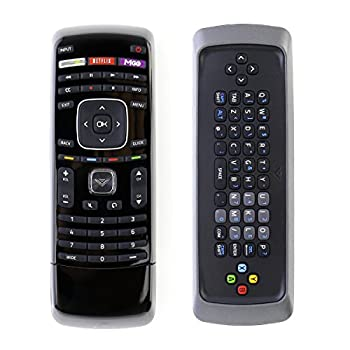 XRT302 QWERTY Keyboard Remote Control fit for Vizio TV E601i-A3 E701i-A3 E650i-A2 D650i-B2 M420SV M470SV M550SV M320SR M370SR M420SR E3D320VX E552VL E472VL M470VSE M650VSE M550VSE M420KD