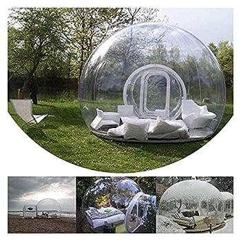 CCAN Tente de Bulle Gonflable Maison extérieure Tunnel Unique Famille Camping arrière-Cour tentes Transparentes de dôme d'air Happy Life
