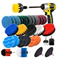 JUSONEY Drill Brush Scrub Pads 8 Piece Power Scrubber Cleaning Kit - All Purpose Cleaner Scrubbing Cordless Drill for Cleaning Pool Tile, Sinks, Bathtub, Brick, Ceramic, Marble, Auto, Boat
