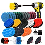 Best Tile Power Scrubbers - JUSONEY Drill Brush Scrub Pads 37 Piece Power Review