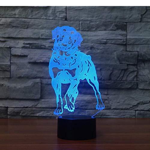 Veilleuse 3D Colorée Lovely Dog Led Lampe De Table Pour Animaux Domestiques Hound Touch Lampe De Compagnie 7 Couleurs Cadeau D'Anniversaire Décoration De noël