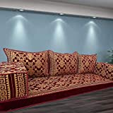 Spirit Home Interiors Sitzsofa aus arabischem Majlis-Fußbodensofa mit Innenfüllungen / SHI_FS363