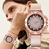 Women Watches Fossil 245mm Quartz Wristwatch with Silicone Band for Women Girl, Model/98003 (Rose Gold- A002)