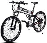 BICICLETA Bicicleta Eléctrica Bicicleta de Montaña a Campo Traviesa Batería de Litio de 48V 500W 21 Velocidad Ser Aplicable Montaña Al Aire Libre Batería Extraíble/A/Load bearing250KG