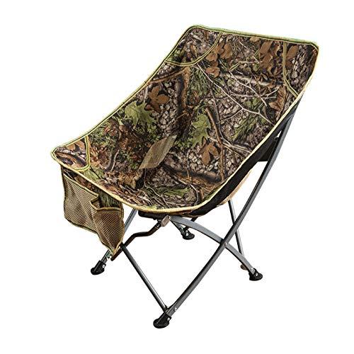 MHIBAX Outdoor Folding Chair Portable Backrest Fishing Chair Recliner Beach Sketching Chair 75 * 60 * 40cm Fallen Leaves