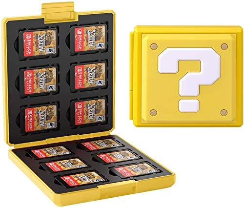 Giochi Custodia Porta Cartucce di Gioco per Nintendo Switch Lite PS Vita e Schede SD,Portatile e Sottile Organizzatore Card Giochi, Custodia Giochi Scatola Adatto a 24 Giochi (?)